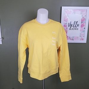 & Other Stories Paris crew neck yellow sweater 2